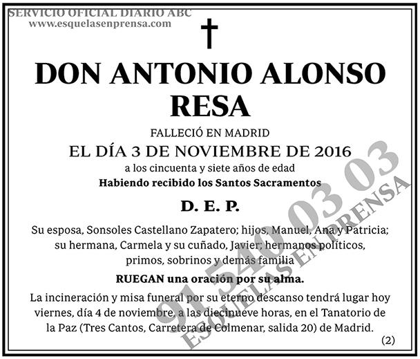 Antonio Alonso Resa
